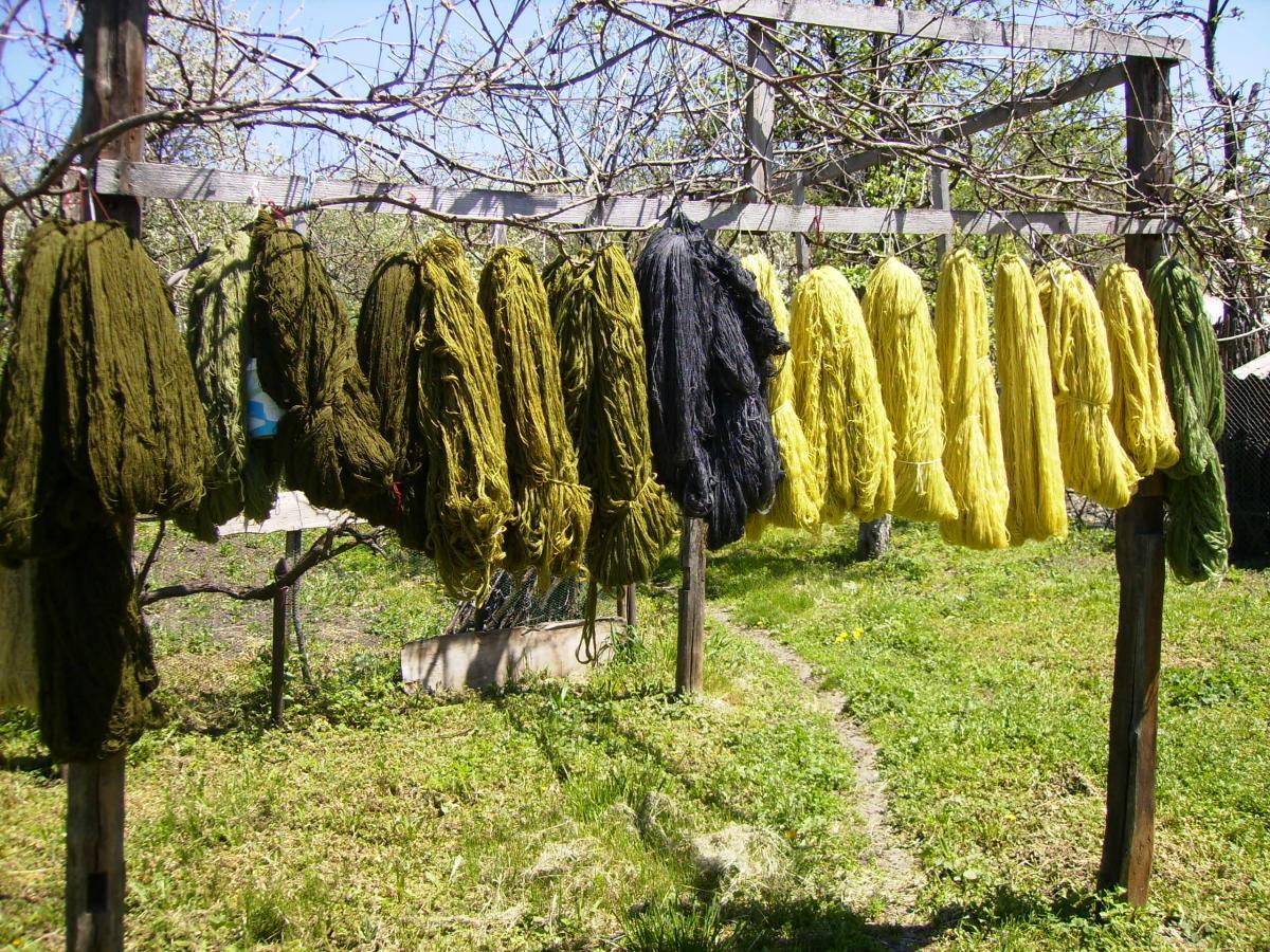 lână vopsită multe culori